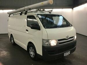 2010 Toyota Hiace KDH201R MY07 Upgrade LWB White 5 Speed Manual Van Albion Brimbank Area Preview