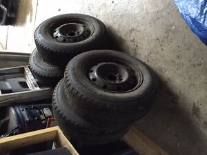 Used winter tires and rims Prince George British Columbia image 1