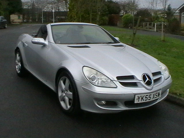 55 Reg Mercedes Benz Slk200 Kompressor 2 Door Convertible Sports Car In Silver