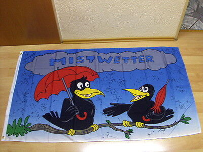 Fahnen Flagge Mistwetter Vögel - 90 x 150 cm