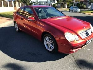 2003 Mercedes-Benz C180 CL203 Kompressor Evolution Red 5 Speed Auto Tipshift Coupe Southport Gold Coast City Preview