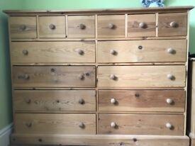 Large vintage wooden drawer
