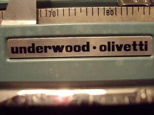 """UNDERWOOD * OLIVETTI  """"Lerttera 22"""" Type writer Strathcona County Edmonton Area image 4"""