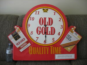VINTAGE CIGARETTE CLOCK SIGN