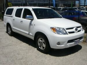2007 Toyota Hilux GGN15R 07 Upgrade SR5 White 5 Speed Automatic Dual Cab Pickup Wangara Wanneroo Area Preview