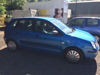 VOLKSWAGEN POLO 1.2 E 5DOOR, DRIVES VERY WELL MOT'D UNTIL JANUARY 2018, CHEAP TO INSURE AND RUN