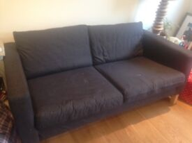 IKEA KARLSTAD 2 Seater Sofa with extra set covers