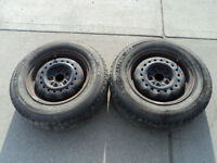 2 Motomaster Tires with Rims 185/70/14