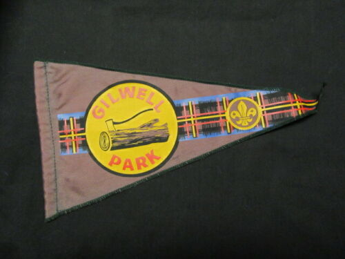 Wood Badge Gilwell Park Purple Pennant  13 Inches Long       eb23