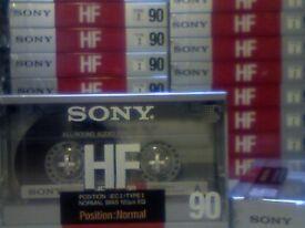 NEW SEALED SONY HF 90 CASSETTE TAPES (1988. FRANCE. RARE). £2.50 EACH.