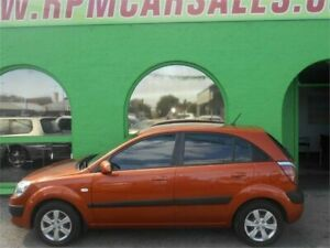 2008 Kia Rio JB LX Sunset Orange 5 Speed Manual Hatchback