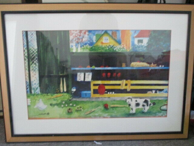'Backyard Dugout' Framed Artwork by Mike Smith