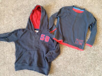 Boys navy hoody and long sleeve Tshirt (Age 1.5 - 2 years)