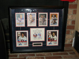 New York Rangers / Islanders Hall Of Fame Signed Piece - RARE