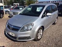 2007 VAUXHALL ZAFIRA 1.8i Design 7 SEATER 12 MONTHS MOT and WARRANTY AVAILABLE