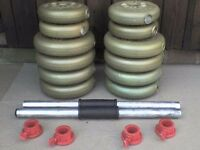 50 lb 22.7 kg Dumbbell Barbell Weights