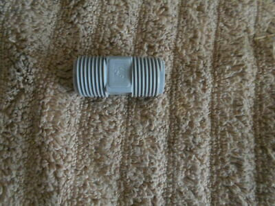 Lot Of 25 12x2 Nipple Gray Plastic Pipe Fitting Threaded Plumbing