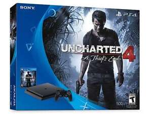 PS4 Slim 500GB Uncharted 4: A Thief's End Bundle