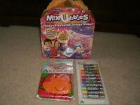 MIXUBBLES DRINKS MAKER ~ ELC FIRST MESSY MAT ~ ELC GLITTER GRAYONS _ ALL BRAND NEW UNOPENED
