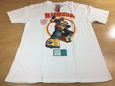 Transformers Bumblebee Logo Short Sleeve Tee Shirt White Size Extra Large