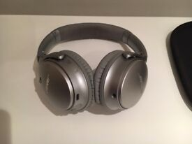Bose QuietComfort Noise Cancelling Silver Wireless Bluetooth Headphones +2 yrs Warranty Mint Cond.