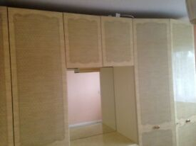 Double wardrobe and drawer unit