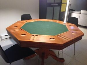 Wood Poker/Bumper table