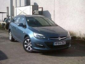 2014 64 VAUXHALL ASTRA 1.6 DESIGN 5DR AUTO 115 BHP ESTATE BLUE