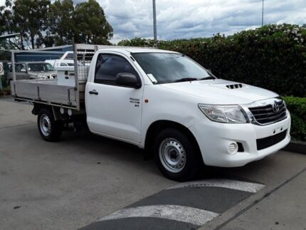 2011 Toyota Hilux KUN16R MY12 SR White 5 Speed Manual Cab Chassis