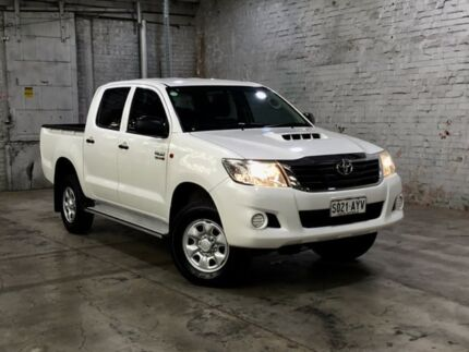 2013 Toyota Hilux KUN26R MY12 SR Double Cab White 5 Speed Manual Utility Mile End South West Torrens Area Preview