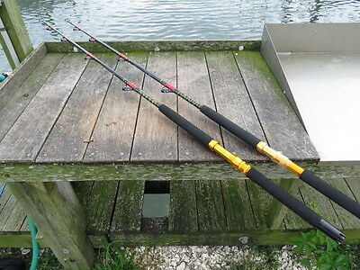 Pair of 2 - Brand New 160lb Saltwater Roller - Fishing Rods
