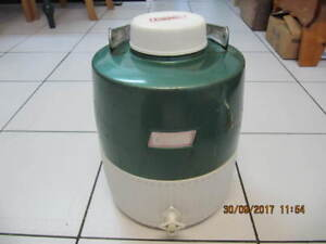 Classic Coleman Green Metal/Plastic OneGallon Water Jug 1950-60s
