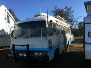 1981 Toyota Coaster BB10 White/Blue Campervan Withcott Lockyer Valley Preview