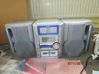 Boom Box Style Sharp Stereo Hi Fi Unit