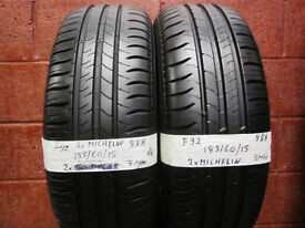 F92 2X 185/60/15 88H MICHELIN ENERGY SAVER 1X7MM 1X8MM TREAD