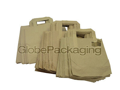 25 Small Brown Kraft Paper Sos Carrier Bags 7 X 3.5 X 8.5
