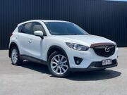 2012 Mazda CX-5 KE1021 Grand Touring SKYACTIV-Drive AWD Crystal White Pearl 6 Speed Sports Automatic Bungalow Cairns City Preview