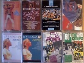 POP CHART HITS, ROCK, BALLADS, COUNTRY COMPILATION PRERECORDED CASSETTE TAPES