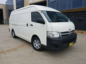 2012 Toyota Hiace KDH221R MY12 Upgrade SLWB White 4 Speed Automatic Van Moorebank Liverpool Area Preview