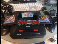 Sega Mega Drive 2 with 3 Games