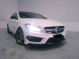 2014 Mercedes-Benz CLA45 C117 AMG SPEEDSHIFT DCT 4MATIC White 7 Speed Sports Automatic Dual Clutch Welshpool Canning Area Preview