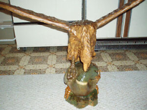 Beautiful Hand carved wooden Bald Eagle on Duck Cambridge Kitchener Area image 1