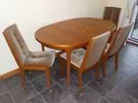 Dining Room Suite. Extension Table and 4 Chairs by 'McIntosh' Funiture.