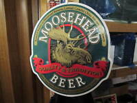 Moosehead Oval Metal Sign – mint condition