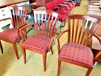 Lobbyguestside Wood Back Chair W Fabric Seat By Steelcase Office Furniture