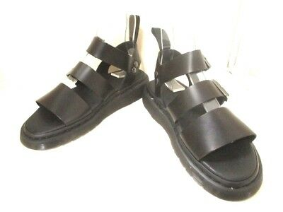 Auth Dr.Martens Black Leather Sandals Men