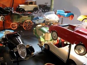 pedal cars, tractors, wagons, tricycles, tin toys, wagons etc