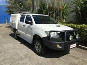 2011 Toyota Hilux KUN26R MY11 Upgrade SR (4x4) White 5 Speed Manual Dual Cab Chassis Bowen Hills Brisbane North East Preview