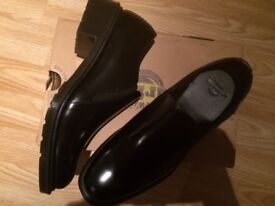Dr Martens black polished leather shoes ROSYNA - Brand new