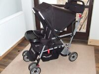 Joovy Caboose Ultralight Stand on Tandem Double Pushchair